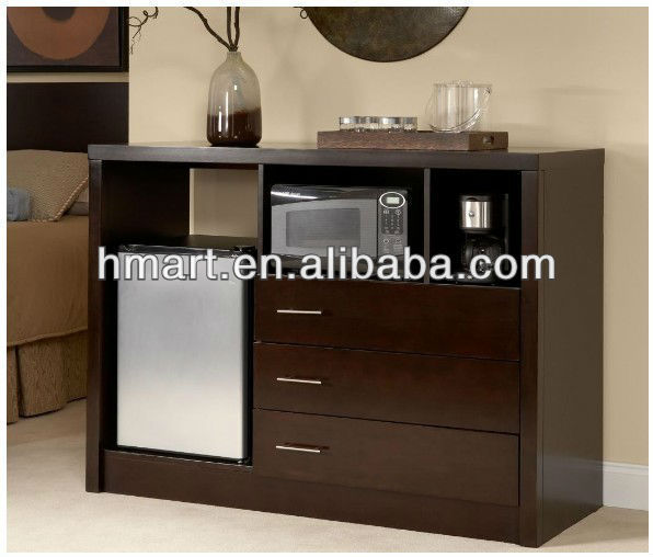 Solid Wood Microwave Fridge Cabinet