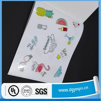 Custom sticker album with your company logo c2s copper paper as the cover with glossy
