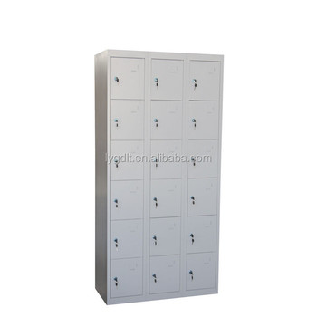 Supermarket durable metal storage 18 door lockers buy for 18 door locker
