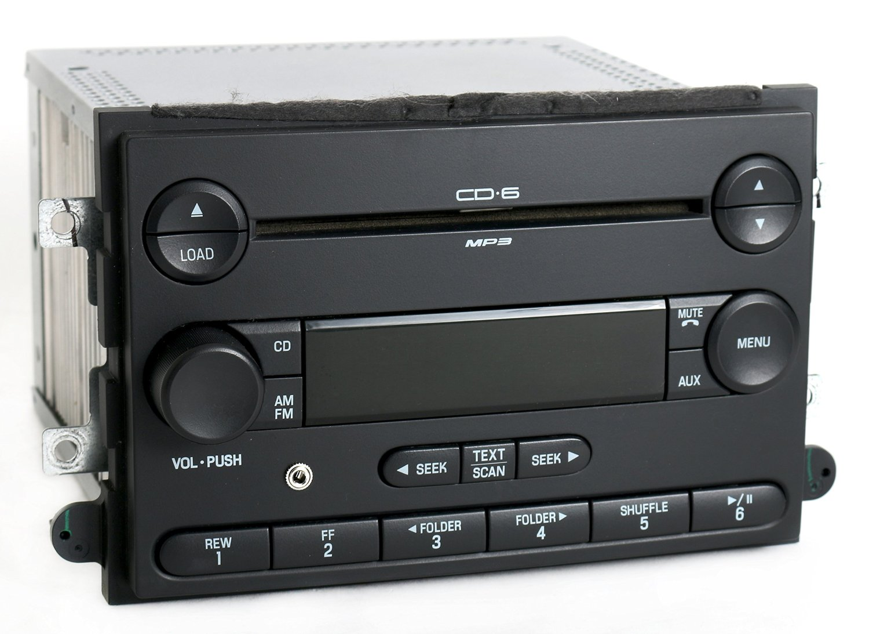 2007 Mercury Milan Ford Fusion AM FM 6 Disc CD Radio w Aux Input 7E5T-18C815-AD