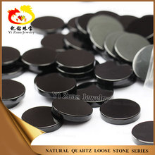 18mm round shape machine cut black onyx gem stones price agate slices
