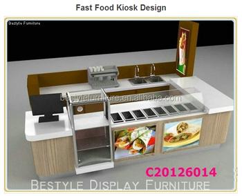 10 12ft factory price indoor food kiosk counter design for Indoor food kiosk design