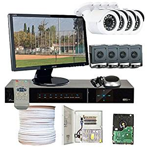 GW Security VD8CHH5 8-Channel HD-SDI DVR 1080P 4 x HD-SDI 1/3 Inches 2.1 Meg 3.6mm Lens 98-Feet IR and 4 x 1/2.8 Inches 2.2 Meg Starlight HD-SDI Camera (Colorful)