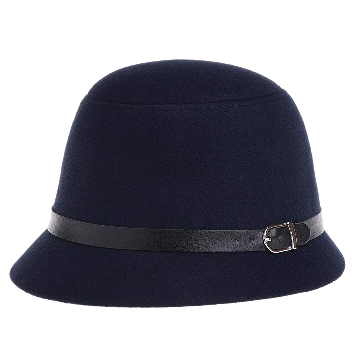 88d13876cbd Get Quotations · VBIGER Bowler Hat Fedora Derby Hats Vintage Cloche Hats  Bucket Hats For Women