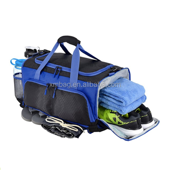 Gym duffel bag Large travel bag fitness sports bag with shoe compartment