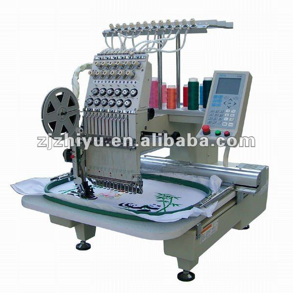 singel head with 12 colors Cap embroidery machine