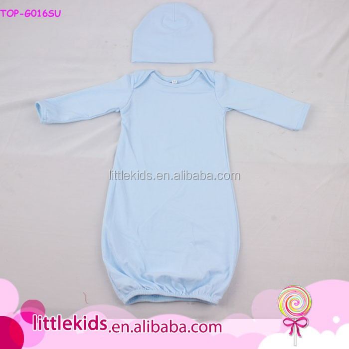 93eb878bc279 Floral Cotton Newborn Baby Sleep Gown Blank Boutique Wholesale Baby ...