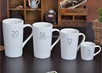 China wholesale oversized blank ceramic coffee mugs/12oz tall custom matt ceramic coffee mug with lid
