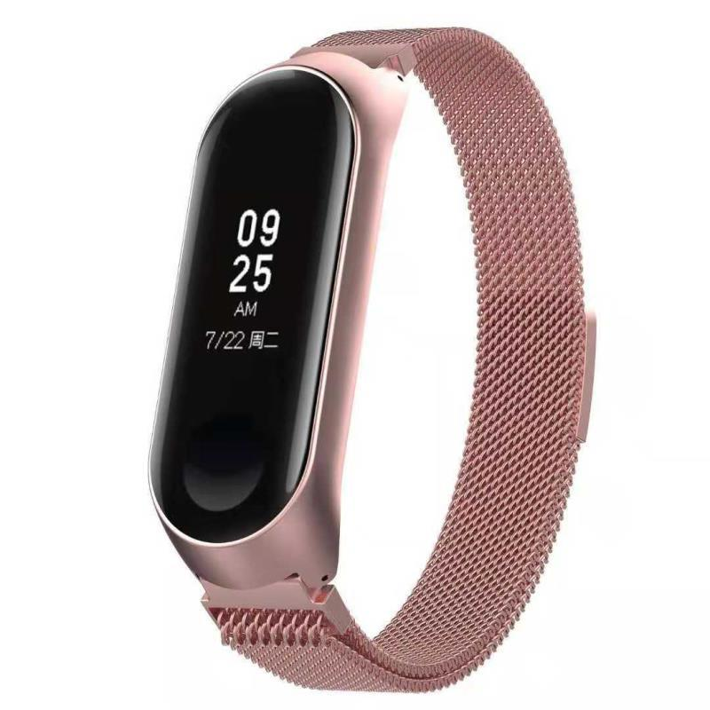 New items Replacement Band Stainless Steel Magnetic Loop Smart Bracelet Xiaomi Mi Band 3 Watch фото