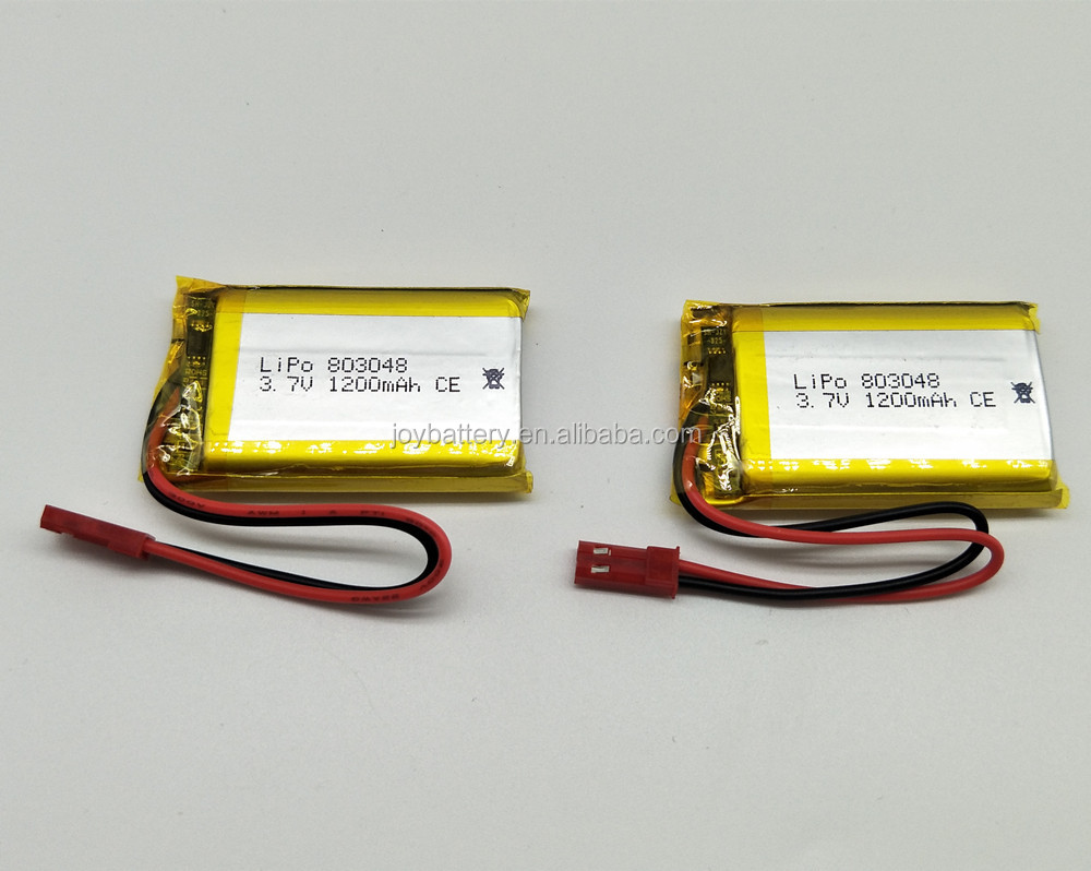 Lipo 803048 3.7V 1200mAh rechargeable lithium ion polymer battery with protection board