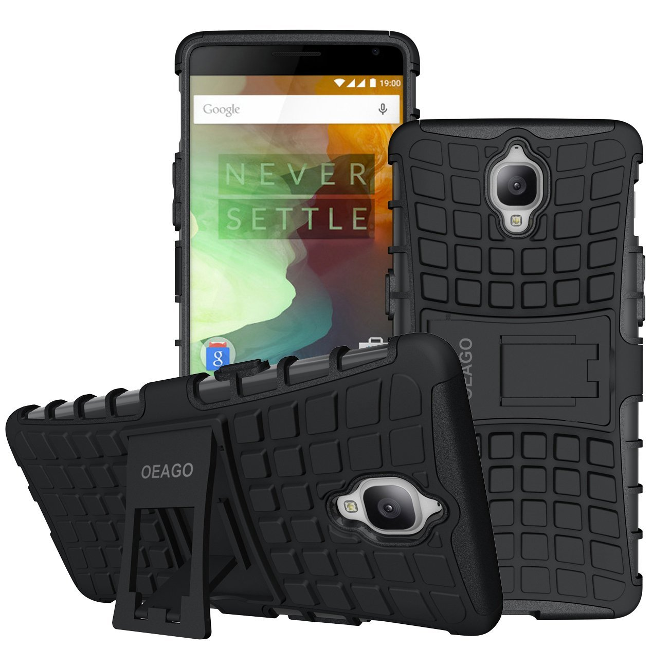 pretty nice 0da43 1b368 Buy OnePlus 3T Case, OnePlus 3 Case OEAGO [Shockproof] Tough Rugged ...