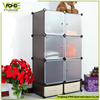 DIY plastic wardrobe cabinet and shoe cabinet, creative plastic storage cabinet for kids