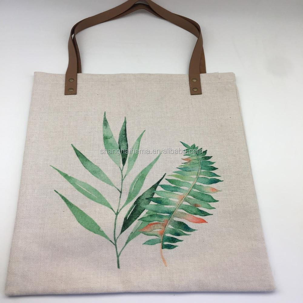 trendy polylinen tote bag polyester shopping bag wholesale
