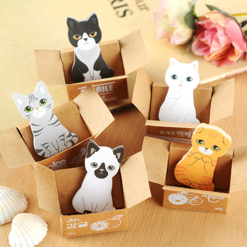 2016 new kawaii funny dogs cats stickers home decor cute table Desktop Decoration Decorative post it