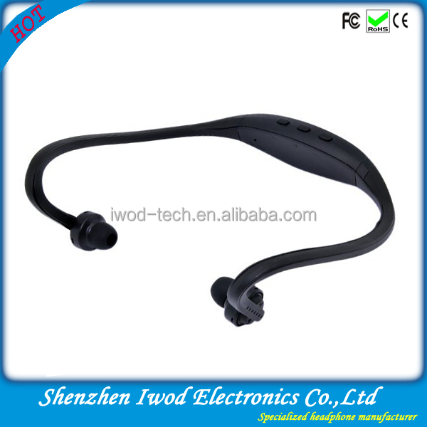 2014 new product sport ear plug bluetooth headset for apple iphone5/5s samsung galaxy note3