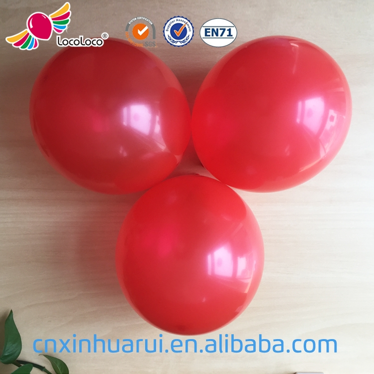 2017 hot sale Wedding Decoration colorful round balloon red