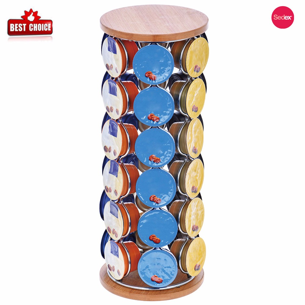 Table stand 36 pods sanding stainless steel coffee accessories capsule holder