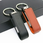 Promotional gift PU leather usb pendrive custom logo, promotional 2gb leather usb stick key chain, leather usb stick