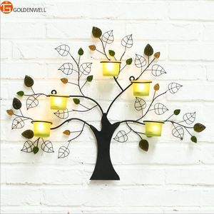 Tree Wall Hanging Candlestick Candleholder Candle Tea Light Holder