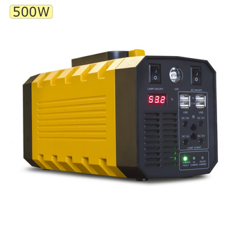 500w outdoors emergency backup power supply portable home solar