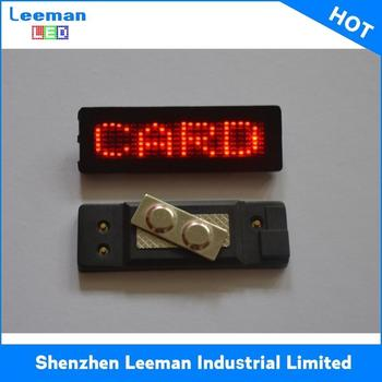 Name Tag Metal Pin Badge Program Moving Message Led Message Sign - Buy  Mini- Pcb Board Name Tag Metal Pin Badge,Create A Badge,Country Flags Led