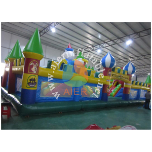 BIG bouncy houses for kids, air jumper inflatable trampoline, large inflatable funlando with cartoon for sale