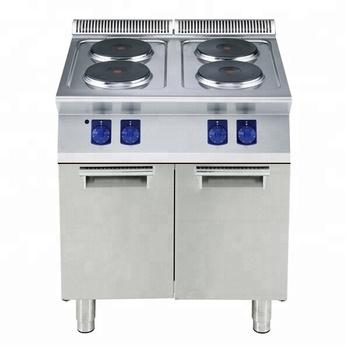 Meja 4 Sepanjang Piring Panas Kompor Listrik Untuk Peralatan Dapur Komersial
