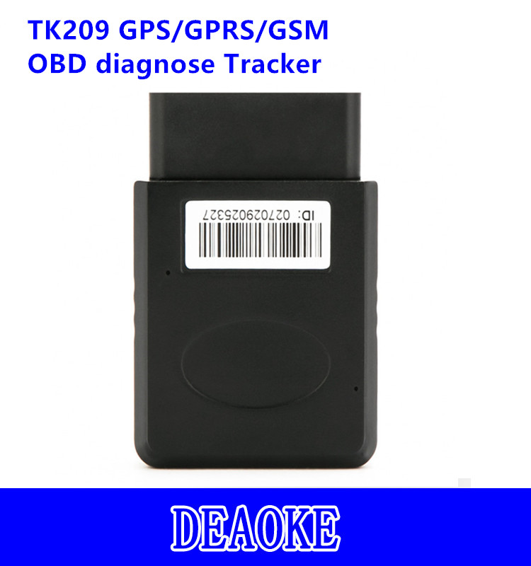 smallest europe OBD ii diagnosis tk209 gps gprs gsm car tracker for personal car