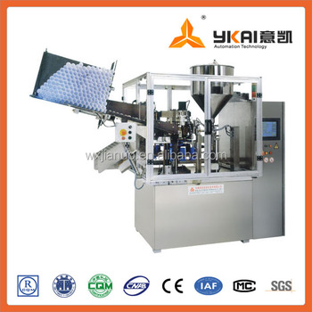 Cosmetic tube filling and sealing machine, automatic machine, plastic tube filling machine