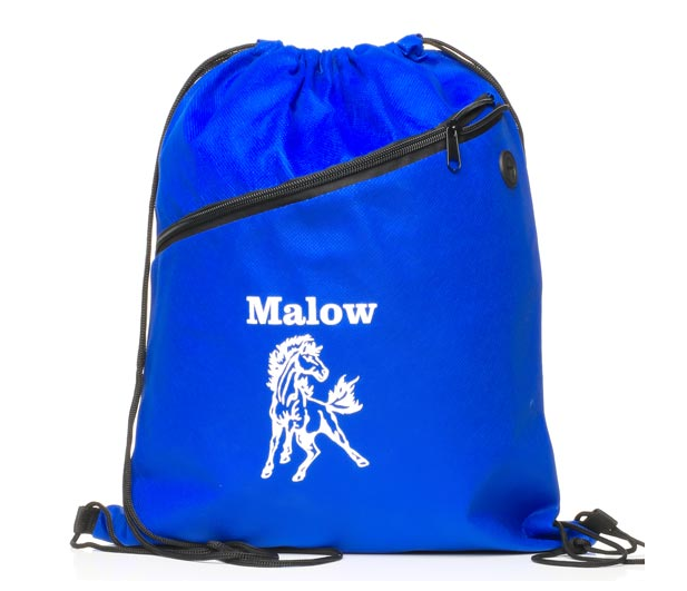 Personalized printing polyester backpack drawstring bag for sports, school