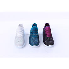 Women Personalized Lace-up Glitter Sneakers