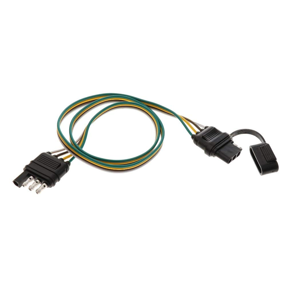 Cheap Trailer Harness Adapter Find Deals On Mitsubishi Outlander Wiring Get Quotations Baoblaze 82cm 4 Pin Car Auto Rv Light Plug Flat Wire Connector