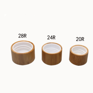 20/410 24/410 28/410 bamboo screw cap for aromatherapy bottle wooden perfume cover press wooden lid