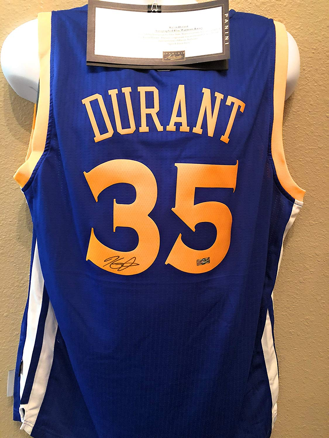 1ad40db06f7 Kevin Durant Golden State Warriors Signed Autograph Swingman Jersey Panini  Authentic Certified