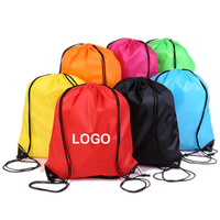 Original factory cheap polyester drawstring bag custom promotional drawstring bag