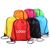 Original factory cheap polyester custom promotional drawstring bag