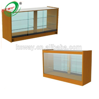 Cloth Shop Open Display Counter Wood Glass Cabinets
