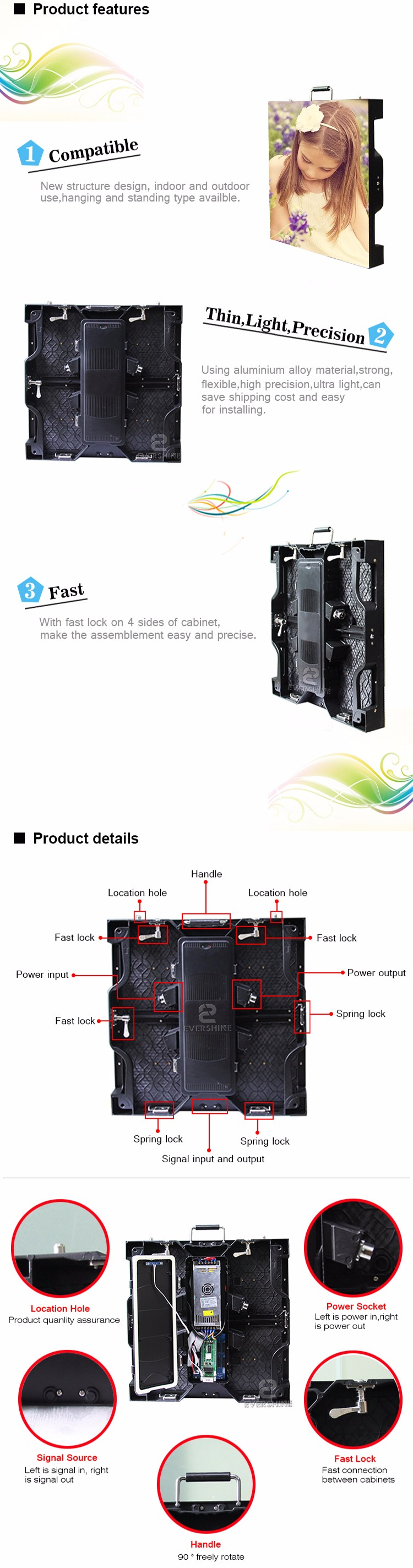 light cabinet mesh led module die-casting aluminum P4.81 indoor using hd display