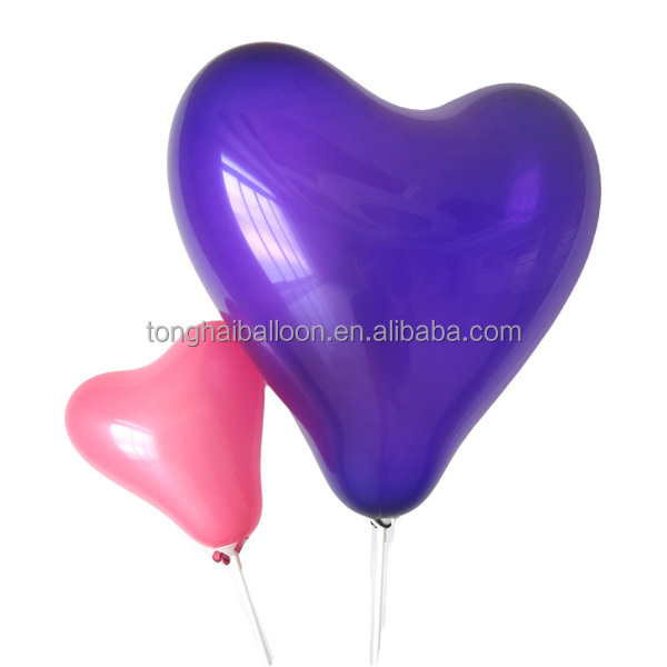 Hot sell colorful heart latex balloons for party decoration/rubber balloon