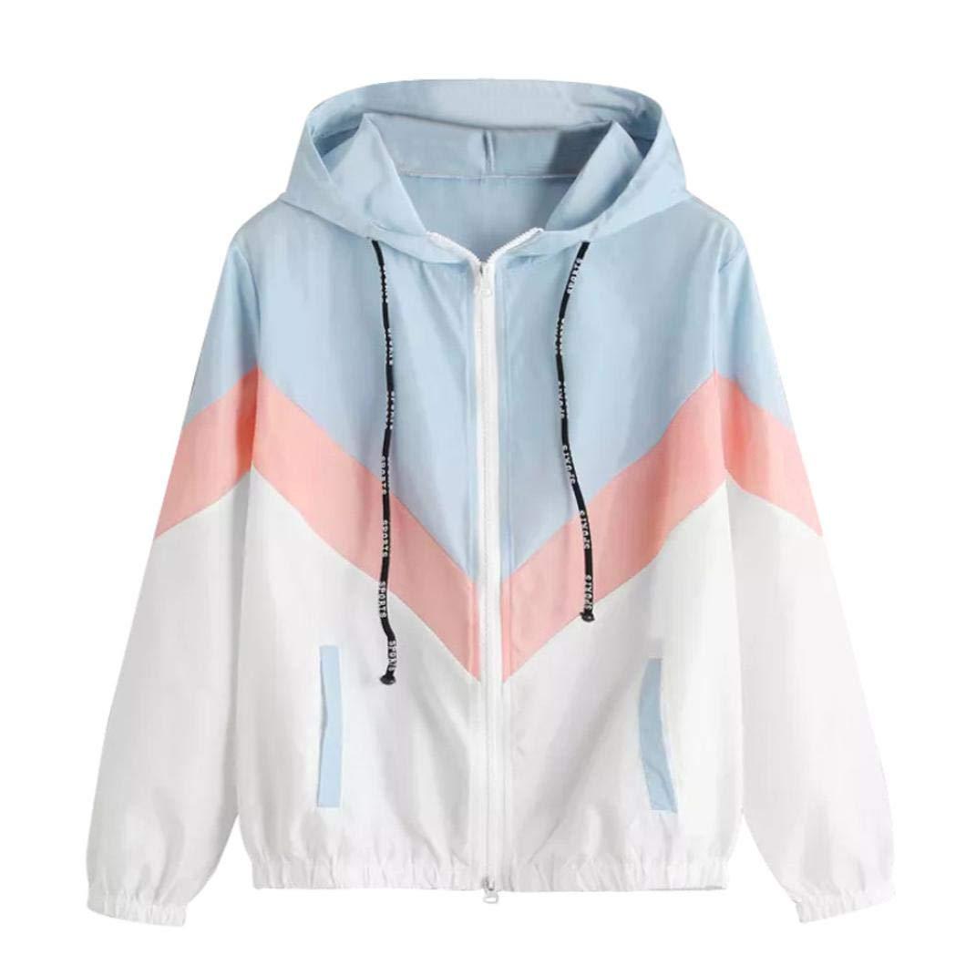 Sikye Women's Outdoor Hooded Jacket Ladies Windbreaker Full-Zip Hooded Casual Active Sports Coat