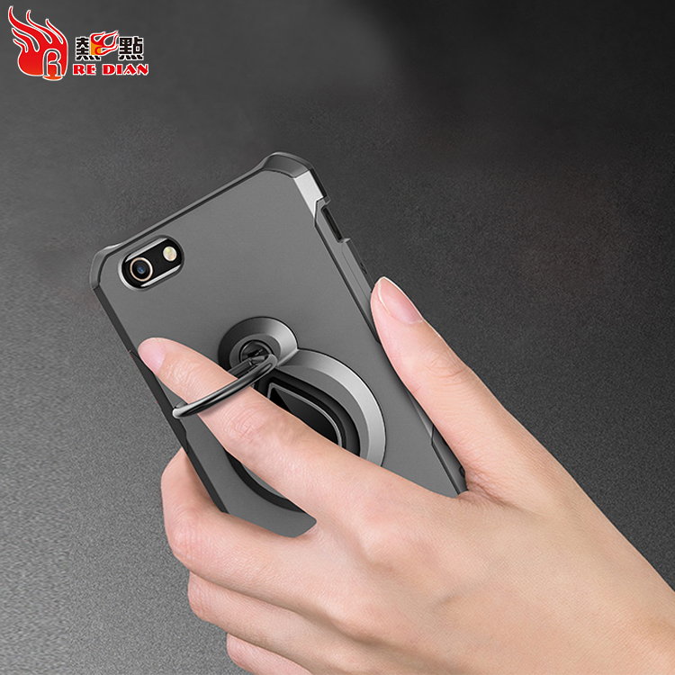 Super Cool Ring Bracket TPU PC Phone Case Protector For Iphone5/5S/SE Hard Case