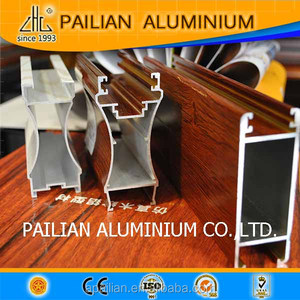 hot! foshan 99 8% billet 6063 T5 to make wood grain powder coating  aluminium profile aluminum decoration wood finish profile