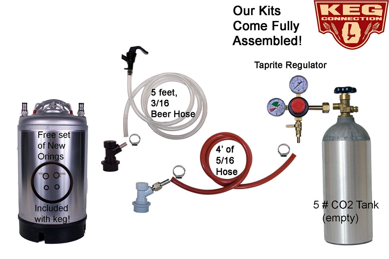 Kegerator Kit, 1 Keg Basic Keg Kit, Premium Kit, 3 Gallon Keg