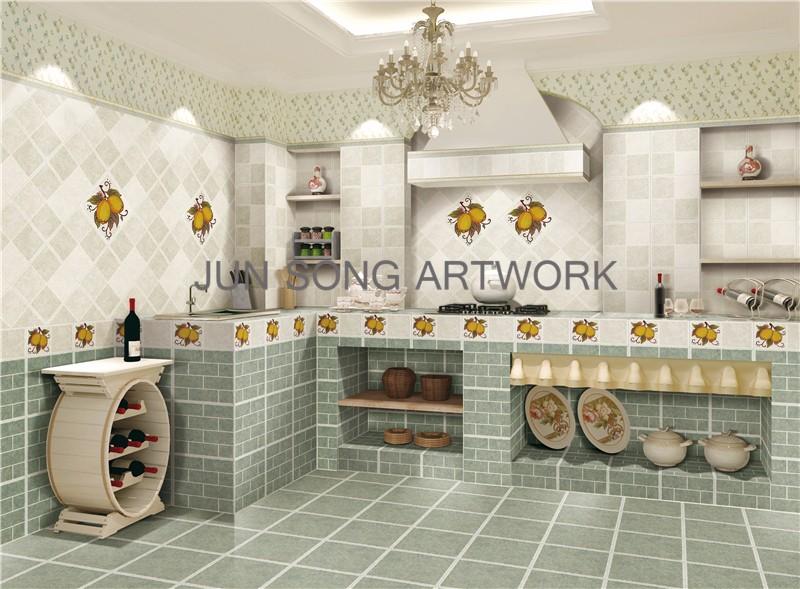 Js 36017 disegno di frutta limone modello ceramic tile cucina