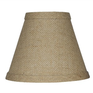 China Factory Wholesale French Style Lighting Parts Colored Chandelier Hardback Burlap Lamp Shade For Lamp Decor Made In China