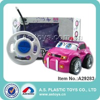 2CH RC Cartoon Plastic Ploice Car Toy For Kids