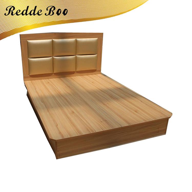 Madera maciza de lujo diseños cama doble con caja de cama muebles de ...
