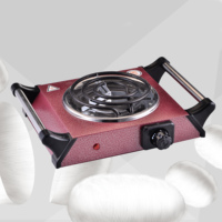 single electric cooking coil stove with handle