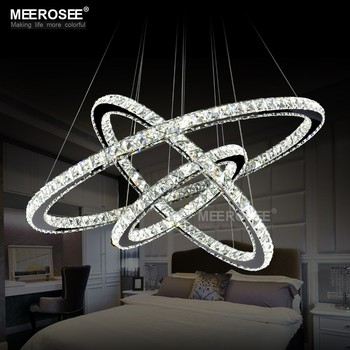 Led Crystal Chandelier Light Modern Led Circle Chandelier Lamp ...