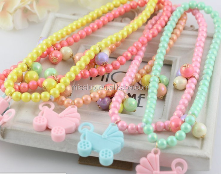 Chunky bead toddler necklaces,wholesale beads necklace jewelry for bubblegum girls